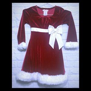 Charming (Santa) Holiday Red & White Dress 6